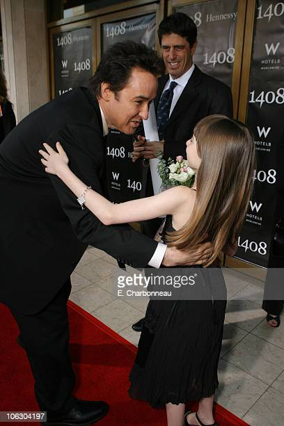 John Cusack and Jasmine Jessica Anthony during Dimension Films presents the World Premiere of '1408' at The National Lindbrook Theatre in Westwood...