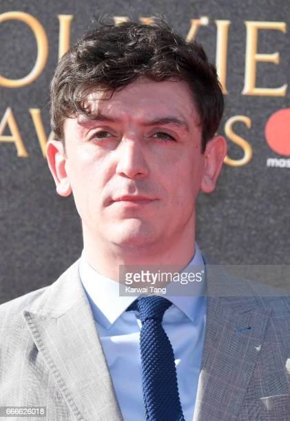 John Dagleish arrives for The Olivier Awards 2017 at the Royal Albert Hall on April 9 2017 in London England
