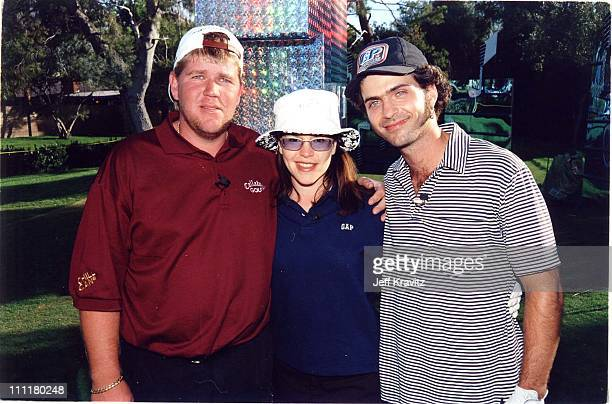 John Daly Lisa Loeb and Dweezil Zappa during 1998 Fairway to Heaven Golf Tournament in Las Vegas Nevada United States
