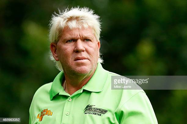 John Daly looks on from the third tee during the first round of the Valspar Championship at Innisbrook Resort Copperhead Course on March 12 2015 in...