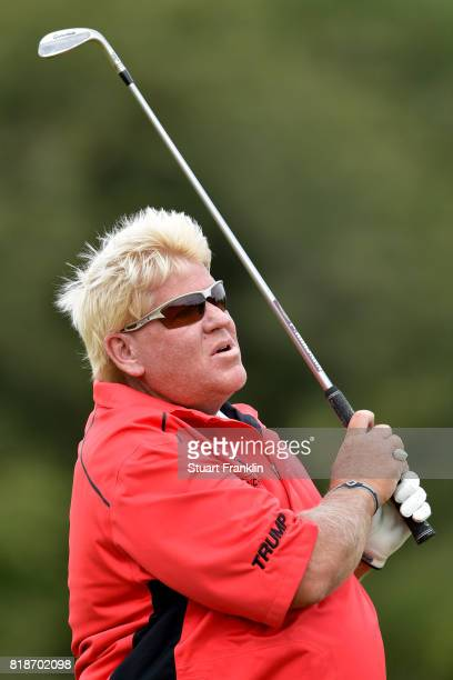 John Daly of the United States in action during a practice round prior to the 146th Open Championship at Royal Birkdale on July 19 2017 in Southport...