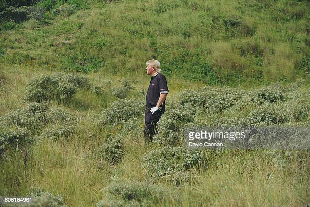 John Daly of the United States in the rough during the Heineken Dutch Open on 22 July 1993 at the Noordwijk Golf Club Noordwijk Netherlands
