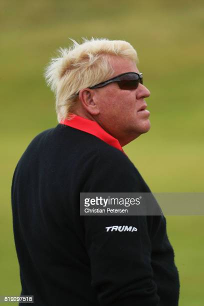 John Daly of the United States looks on during the first round of the 146th Open Championship at Royal Birkdale on July 20 2017 in Southport England