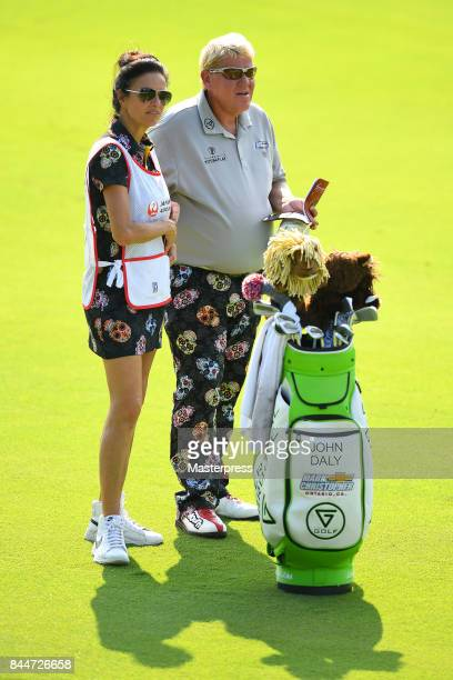 John Daly of the United States looks on during the second round of the Japan Airlines Championship at Narita Golf ClubAccordia Golf on September 9...
