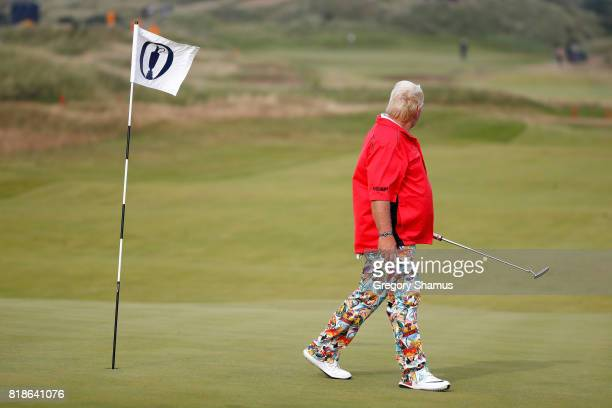 John Daly of the United States looks on from the green during a practice round prior to the 146th Open Championship at Royal Birkdale on July 19 2017...