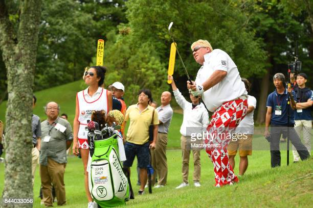 John Daly of the United States shots during the first round of the Japan Airlines Championship at Narita Golf ClubAccordia Golf on September 8 2017...