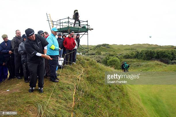 John Daly of the USA hits a shot on the 12th hole during the First Round of the 137th Open Championship on July 17 2008 at Royal Birkdale Golf Club...
