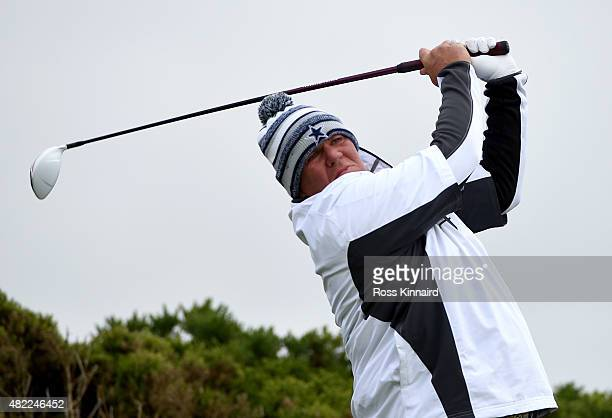 John Daly of the USA in action during the proam event prior to the Saltire Energy Paul Lawrie Matchplay at Murcar Links Golf Course on July 29 2015...