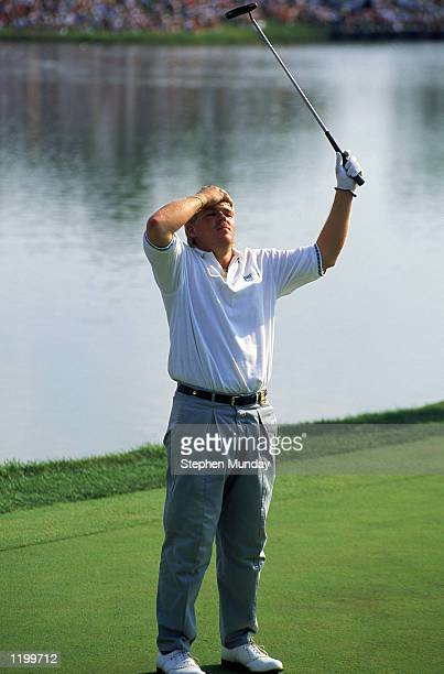 John Daly of the USA wins the USPGA Championship at Crooked Stick in Carmel Indiana USA in August 1991