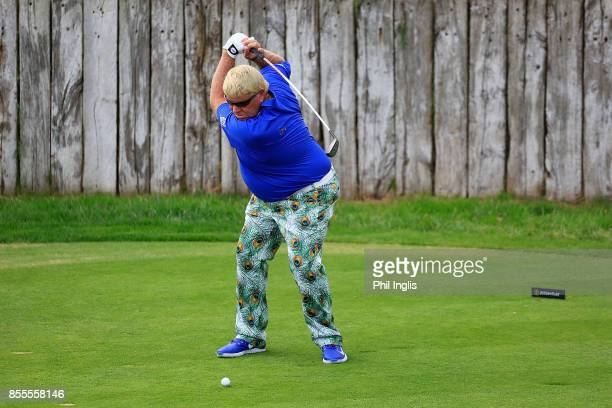 John Daly of United States in action during the second round of the Paris Legends Championship played at Le Golf National on September 29 2017 in...