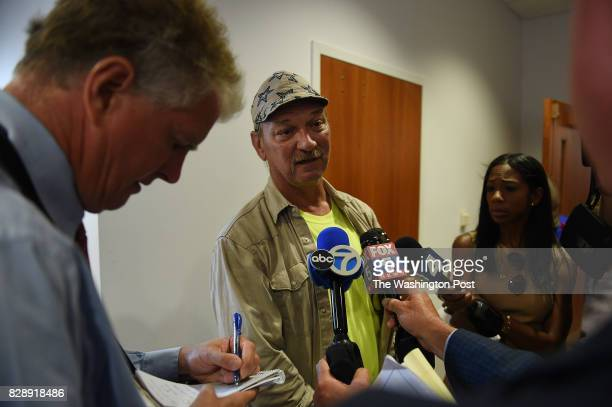 John Darling from St Mary's County speaks to reporters about his son who died of a drug overdose this year after attending a press conference with St...