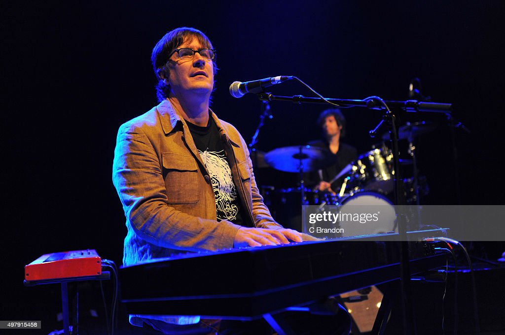 John Darnielle of The Mountain Goats performs on stage at the O2 Shepherd's Bush Empire on November 19 2015 in London England