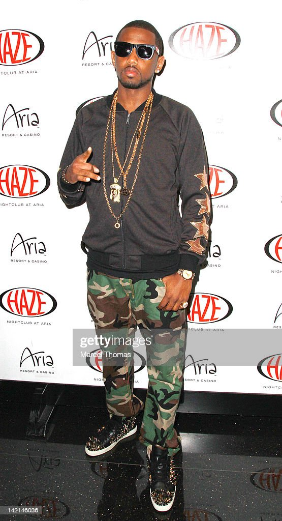 John David Jackson AKA Fabolous is seen arriving to host an evening at Haze Nightclub on March 30, 2012 in Las Vegas, Nevada.