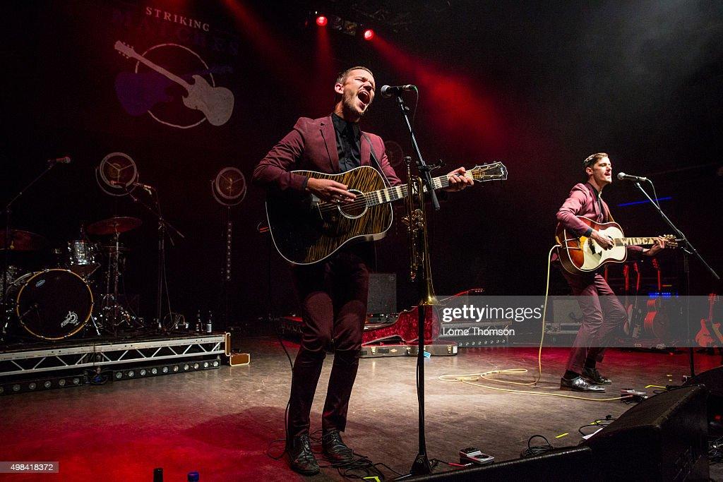 John Davidson and Jacob Bryant perform as John And Jacob at O2 Shepherd's Bush Empire on November 22 2015 in London England