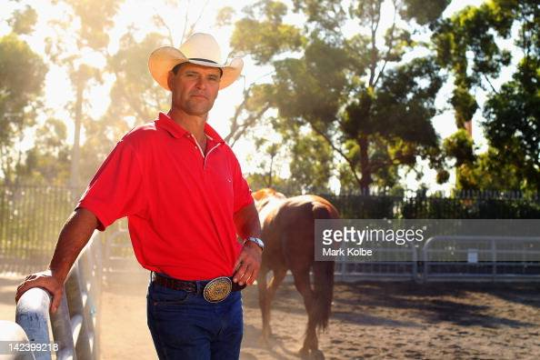 John Day of 'Panuara' Junee poses in preparation for 2012 Sydney Royal Easter Show at the Sydney Showground on April 4 2012 in Sydney Australia The...