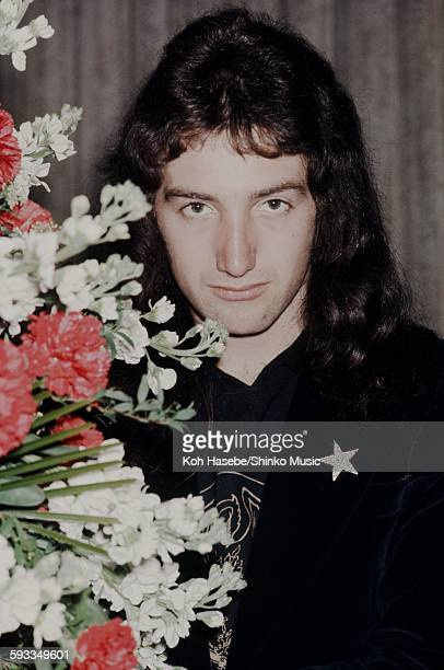 John Deacon at a reception Tokyo March 30 1976