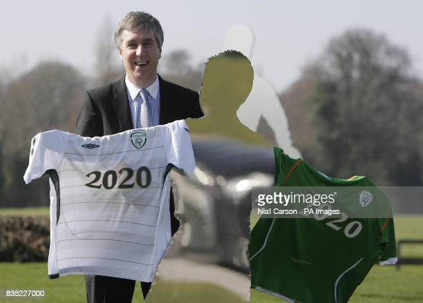 John Delaney CEO of the Football Association of Ireland during a photocall to announce a 256 million euro ten year commercial partnership with Umbro...