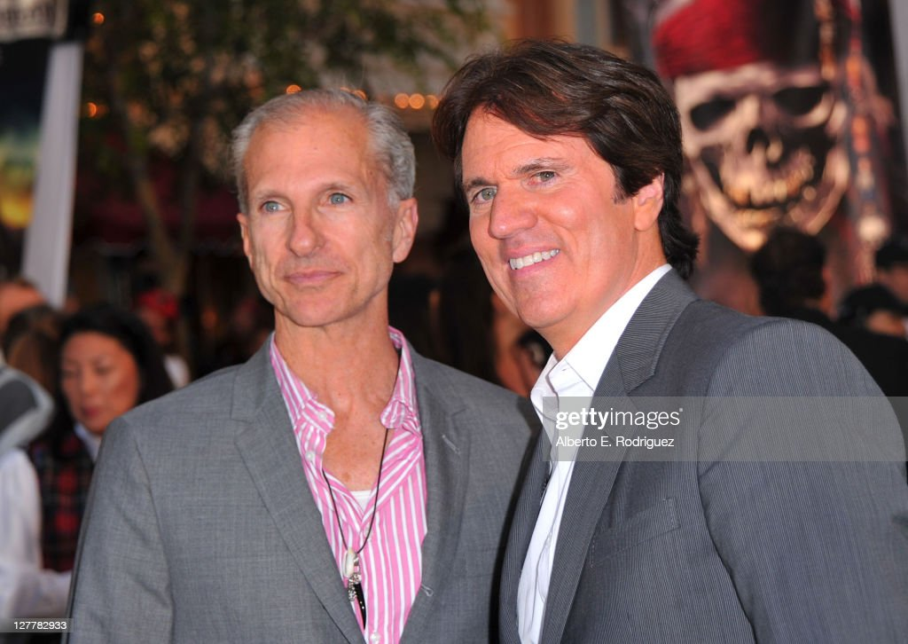 John DeLuca and director Rob Marshall arrive at the world premiere of 'Pirates Of The Caribbean On Stranger Tides' at Disneyland on May 7 2011 in...