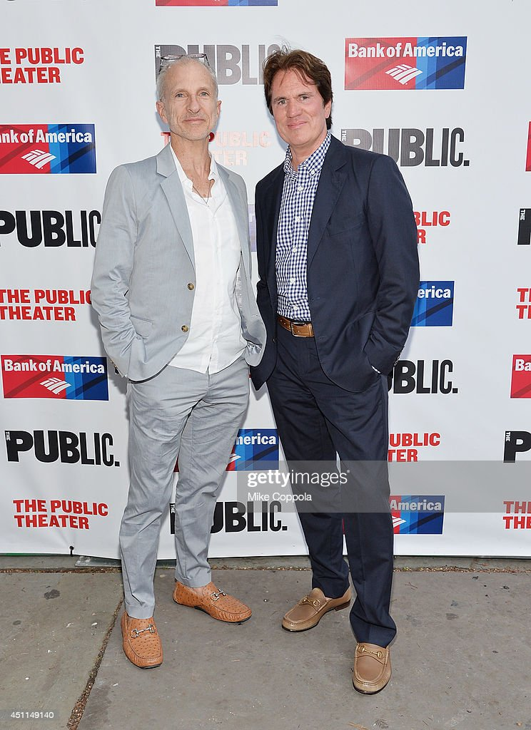 John DeLuca (L) and <a gi-track='captionPersonalityLinkClicked' href=/galleries/search?phrase=Rob+Marshall&family=editorial&specificpeople=210892 ng-click='$event.stopPropagation()'>Rob Marshall</a> attends the Public Theater's 2014 Gala celebrating 'One Thrilling Combination' on June 23, 2014 in New York, United States.