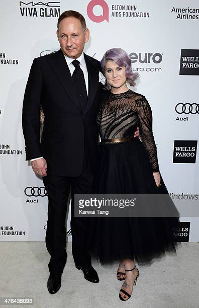John Dempsey and Kelly Osbourne arrive for the 22nd Annual Elton John AIDS Foundation's Oscar Viewing Party held at West Hollywood Park on March 2...