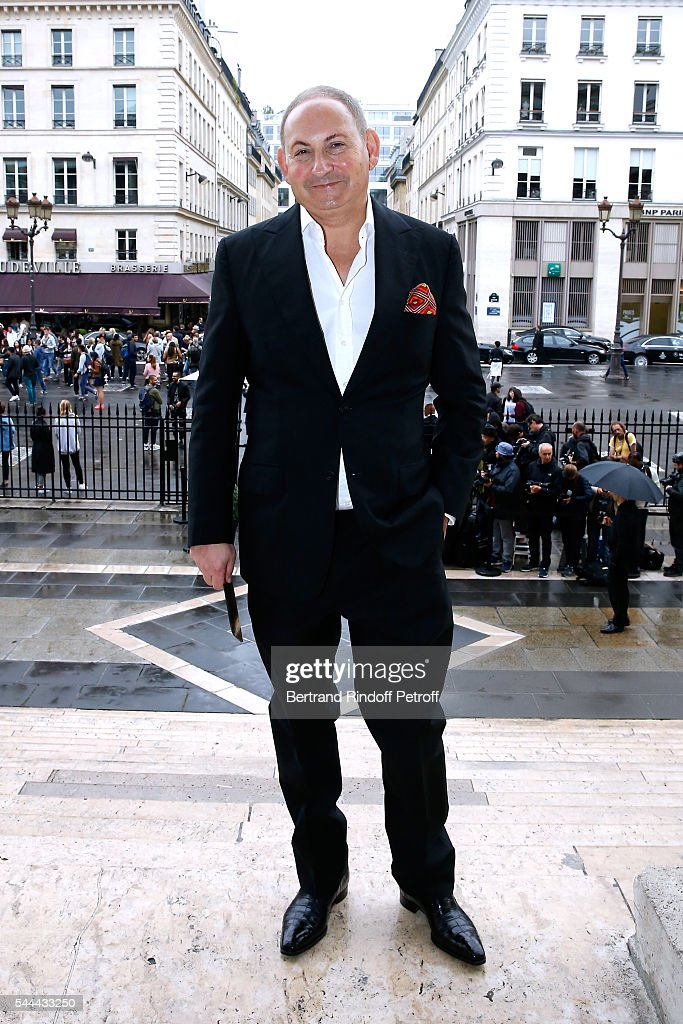 John Dempsey attends the Atelier Versace Haute Couture Fall/Winter 20162017 show as part of Paris Fashion Week on July 3 2016 in Paris France