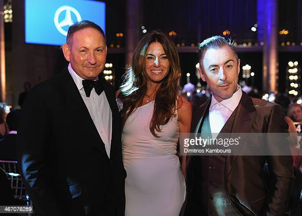 John Dempsey Kelly Bensimon and Alan Cumming attend the 2014 amfAR New York Gala at Cipriani Wall Street on February 5 2014 in New York City