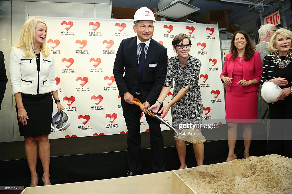 John Dempsey, President of MAC Cosmetics (C) attends the Expansion Project Groundbreaking Ceremony at God's Love We Deliver on October 2, 2013 in New York City.