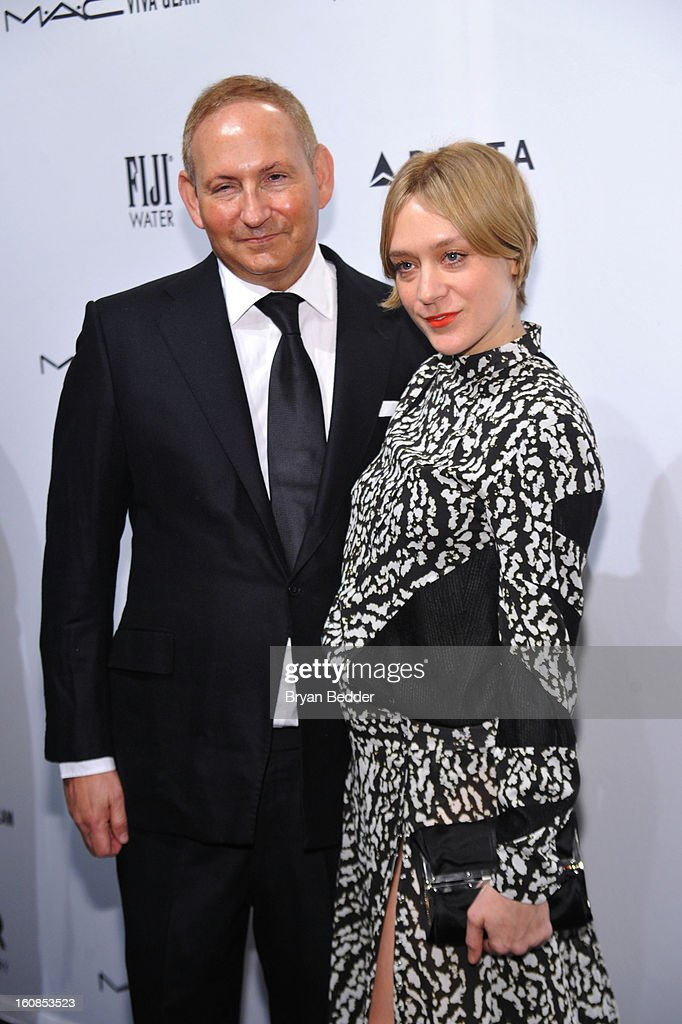 John Demsey and Chloe Sevigny attend the amfAR New York Gala to kick off Fall 2013 Fashion Week at Cipriani Wall Street on February 6, 2013 in New York City.