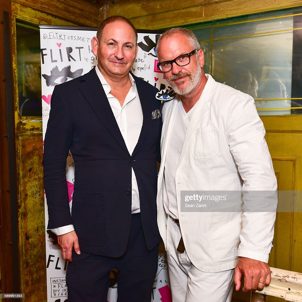 John Demsey and Donald Robertson attend Donald Robertson John Demsey Celebrate the Launch of Flirt Cosmetics with Amber Rose at The Box on August 15...