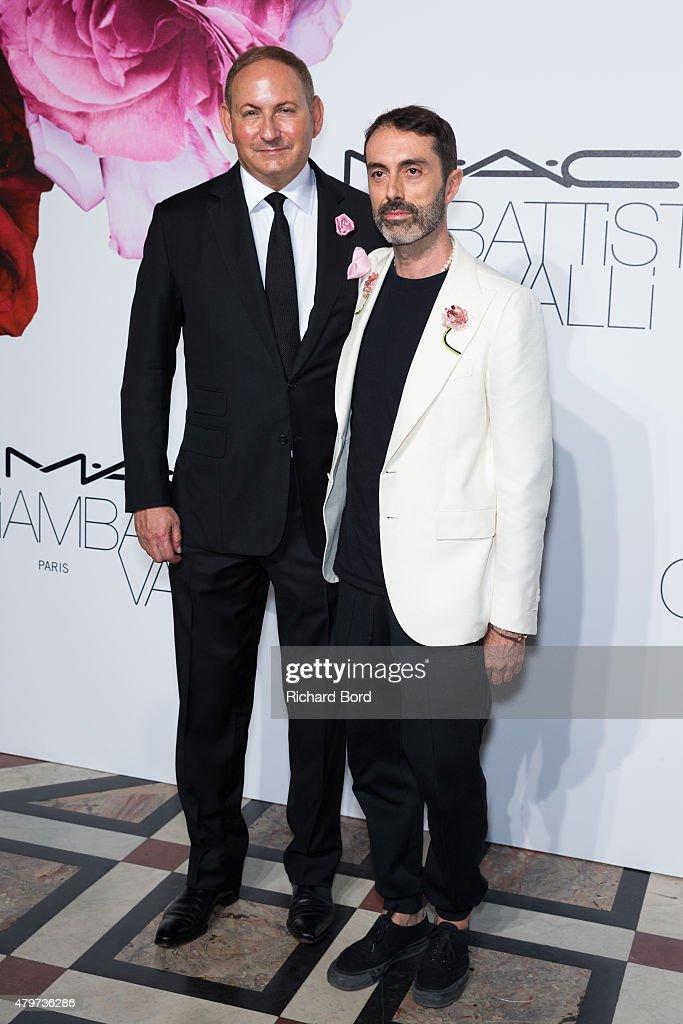 John Demsey and Giambattista Valli attend the MAC Cosmetics Giambattista Valli Floral Obsession Ball at Opera Garnier on July 6 2015 in Paris France
