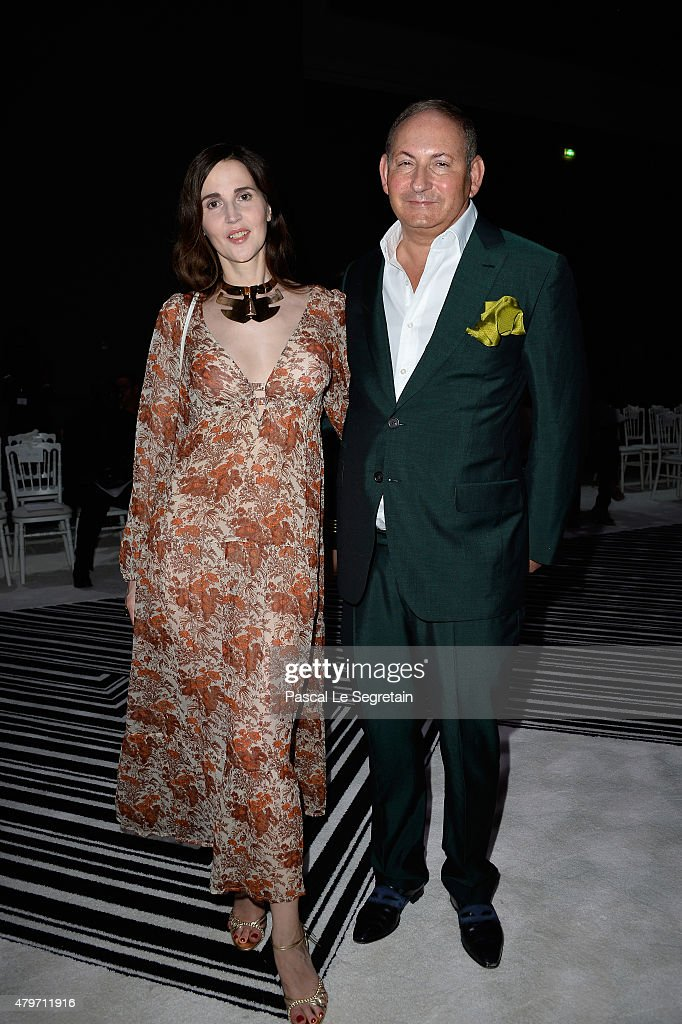 John Demsey and guest attend the Giambattista Valli show as part of Paris Fashion Week Haute Couture Fall/Winter 2015/2016 on July 6 2015 in Paris...