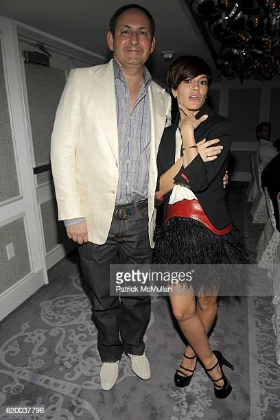 John Demsey and Jenne Lombardo attend INTERVIEW MAGAZINE Party to Celebrate the ART ISSUE DINNER at The Mondrian on December 4 2008 in Miami FL