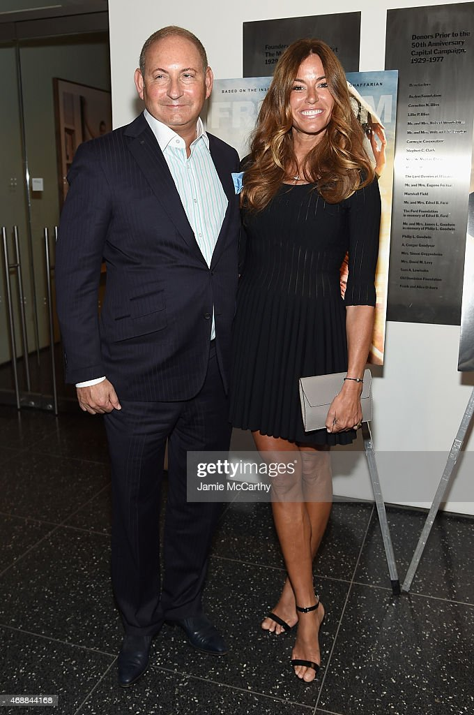 John Demsey and Kelly Bensimon attend the special screening of Relativity Studio's 'Desert Dancer' at Museum of Modern Art on April 7 2015 in New...