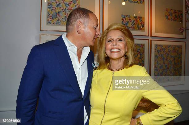 John Demsey and Susan Silver attend Susan Silver's Memoir Signing Celebration at Michael's on April 20 2017 in New York City