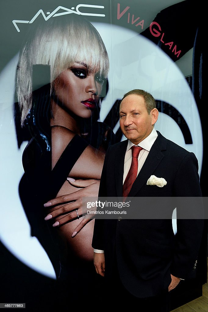 <a gi-track='captionPersonalityLinkClicked' href=/galleries/search?phrase=John+Demsey&family=editorial&specificpeople=215290 ng-click='$event.stopPropagation()'>John Demsey</a>, Chairman, M-A-C AIDS Fund and Group President, The Estee Lauder Companies attends the MAC Cosmetics Launch of Viva Glam Rihanna at MAC Store Soho on January 29, 2014 in New York City.