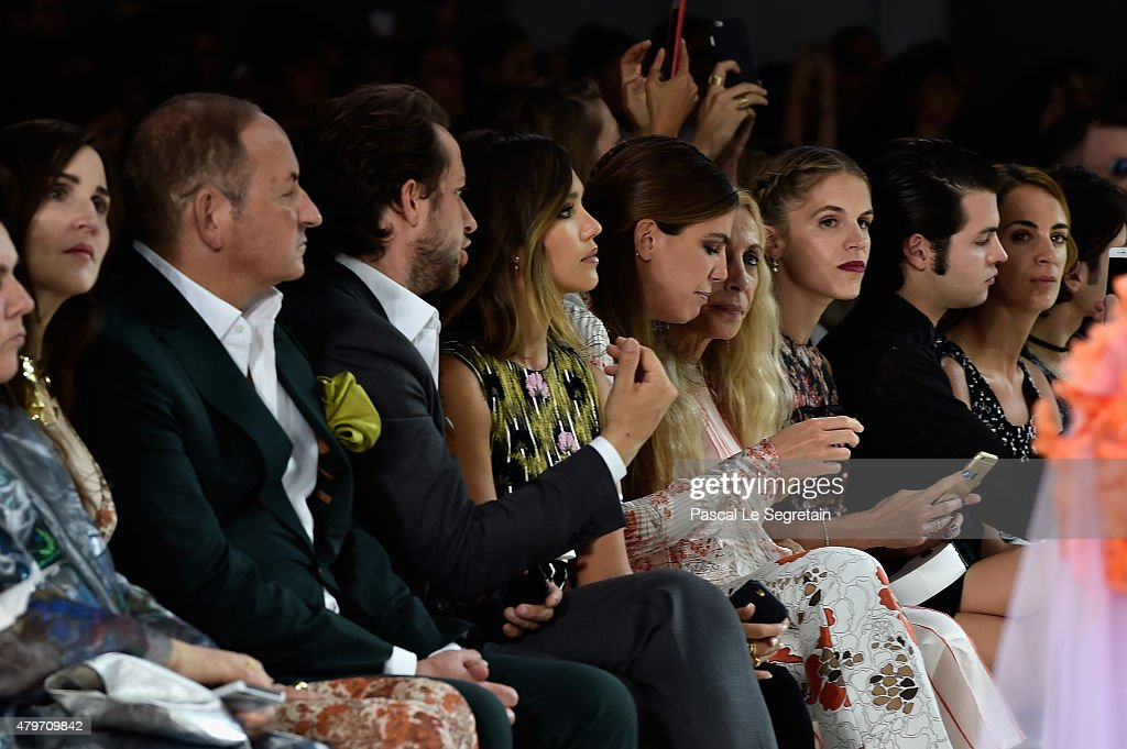 John Demsey Derek Blasberg and Jessica Alba attend the Giambattista Valli show as part of Paris Fashion Week Haute Couture Fall/Winter 2015/2016 on...