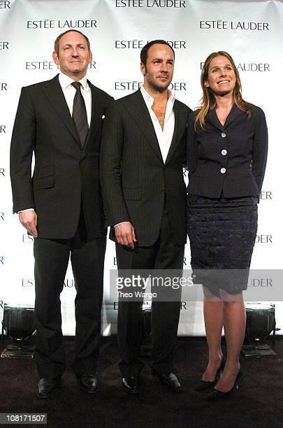 John Demsey president of Estee Lauder Global Brand Tom Ford and Aerin Lauder senior vice president of Global Creative Directions Estee Lauder