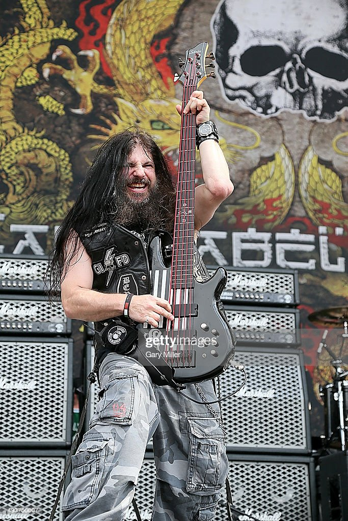 John DeServio performs in concert with Black Label Society during the River City RockFest at the at&t Center on May 24, 2014 in San Antonio, Texas.