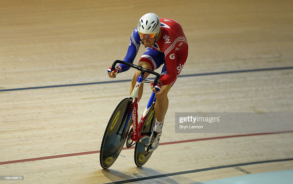 John Dibbon of Great Britain in action during training for the UCI Track Cycling World Cup at the Sir Chris Hoy Velodrome on November 15, 2012 in Glasgow, Scotland.