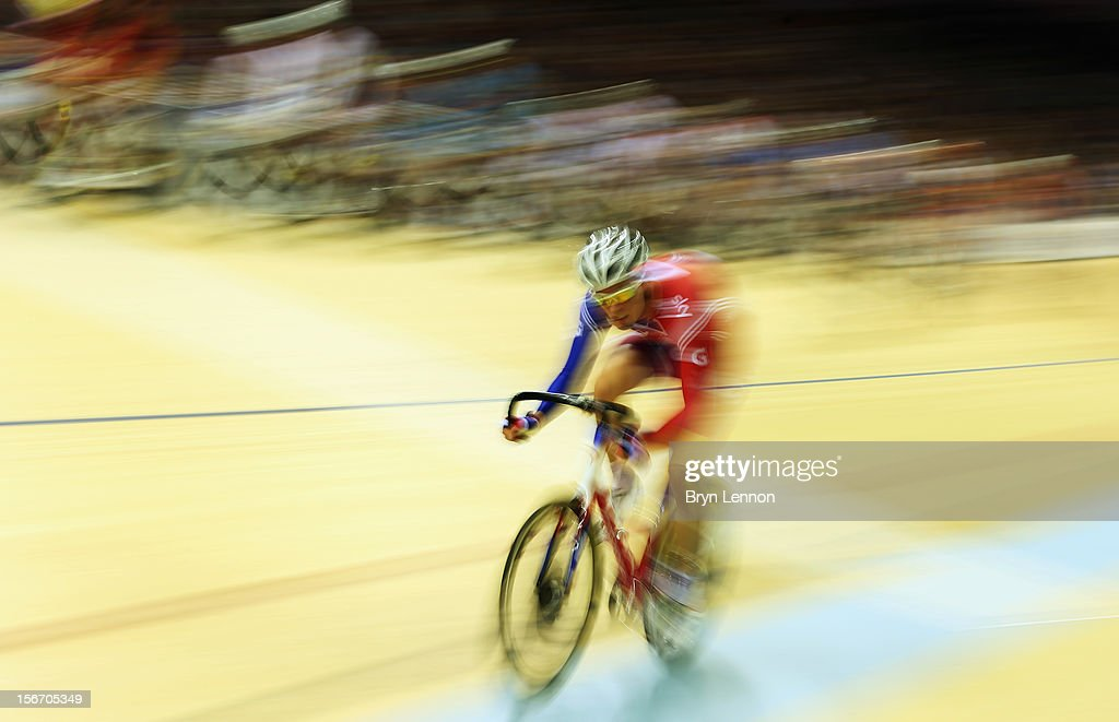 John Dibbon of Great Britain in action in the Men's Omnium of Great Britain during day two of the UCI Track Cycling World Cup at Sir Chris Hoy Velodrome on November 17, 2012 in Glasgow, Scotland.