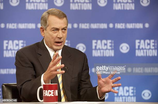 John Dickerson interviews Speaker of the House John Boehner in an interview that aired on the July 12 2015 edition of 'Face the Nation'