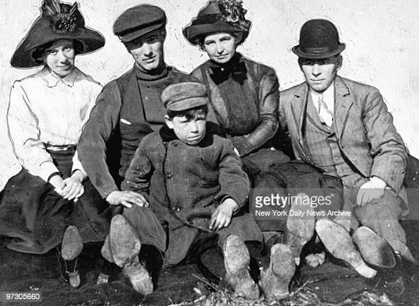 John Dillinger America's No 1 outlaw when he was 6 years old He's shown on outing with his father and friends of the family who then little expected...