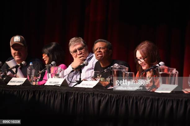 John Dimaggio Lauren Tom Maurice LaMarche Phill Lamarr and Tress Macneille attend Futurama Worlds of Tomorrow Event in Hollywood at Avalon on June 20...