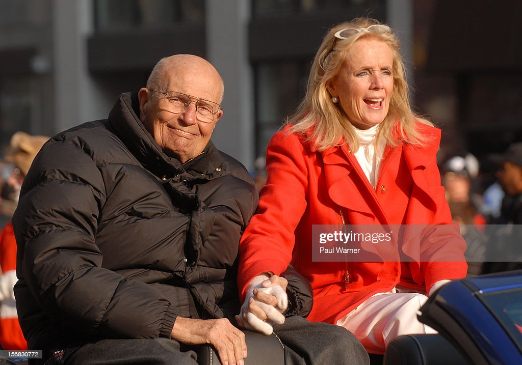 John Dingell (D-Mich) and his wife Debbie attend America's Thanksgiving Day Parade at Woodward Avenue on November 22, 2012 in Detroit, Michigan.