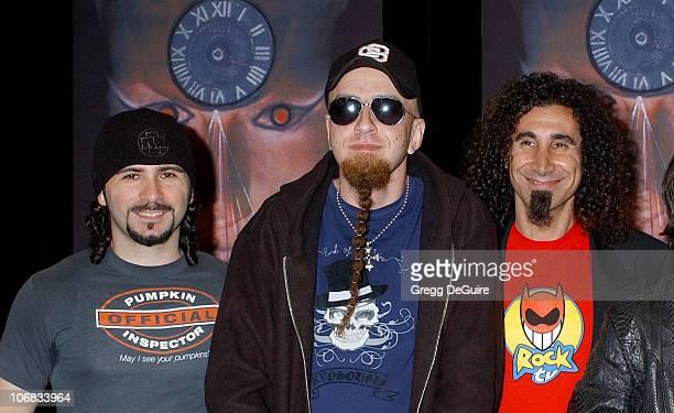 John Dolmayan Shavo Odadjian and Serj Tankian of System Of A Down