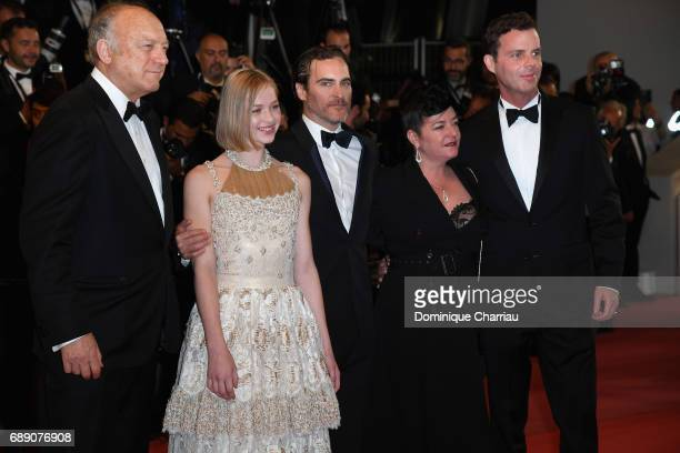 John Doman Ekaterina Samsonov Joaquin Phoenix director Lynne Ramsay and Alex Manette attend the 'You Were Never Really Here' screening during the...