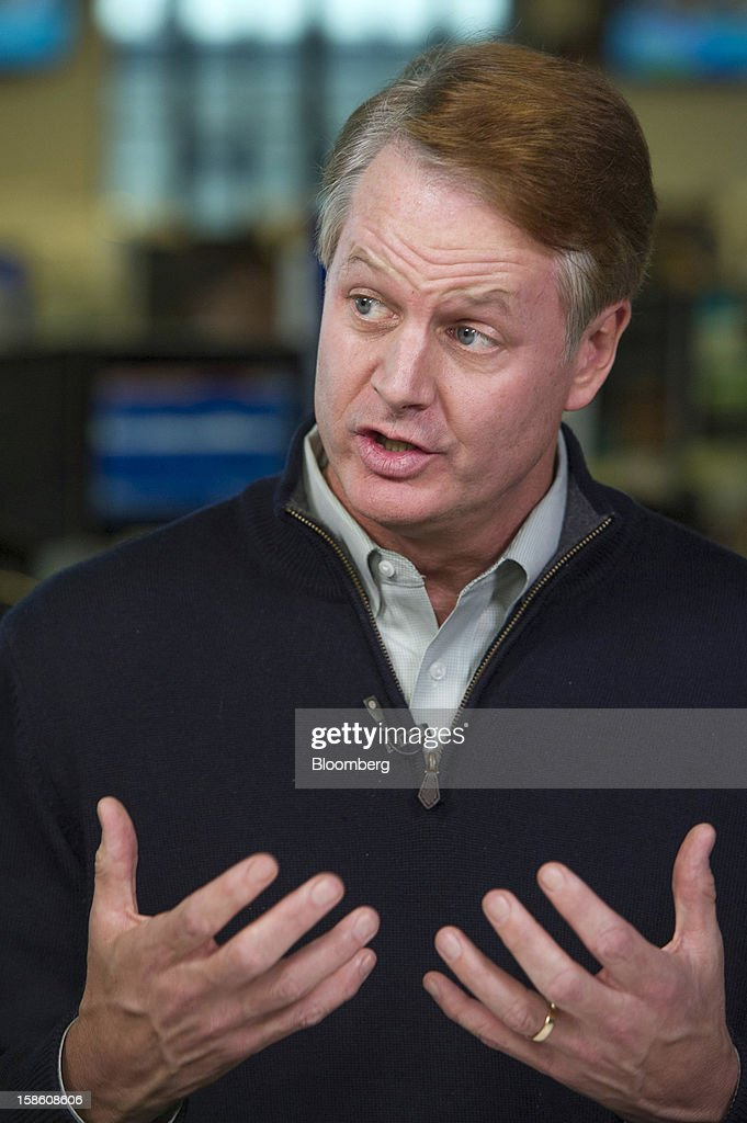 John Donahoe, chief executive officer of EBay Inc., speaks during a Bloomberg Television interview in San Francisco, California, U.S., on Thursday, Dec. 20, 2012. EBay Inc., owner of the worldis largest Internet marketplace, is teaming up with Macyis Inc. and Toys eRi Us Inc. as it goes after revenue from shoppers who are out and about, not just online, during the holidays. Photographer: David Paul Morris/Bloomberg via Getty Images