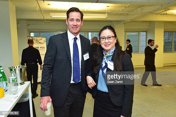 John Donohoe and Vanessa Hee attend The Commercial Observer Financing Commercial Real Estate at 666 Fifth Avenue on November 15 2016 in New York City