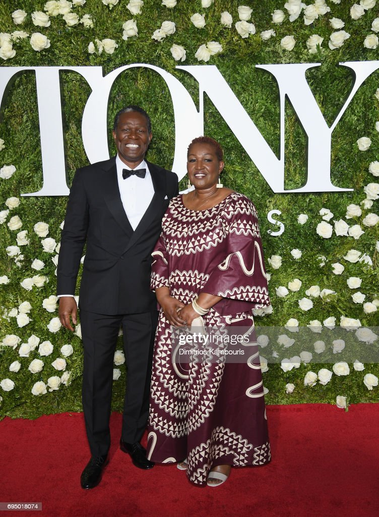 John Douglas Thompson and guest attend the 2017 Tony Awards at Radio City Music Hall on June 11, 2017 in New York City.
