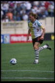 John Doyle of the San Jose Clash moves the ball against the Kansas City Wiz during an MLS game played at Spartan Stadium in San Jose California The...